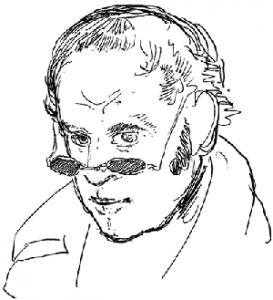 R. Töppfer, autoportrait : en plus, il dessinait vachement bien ! (D.R.)
