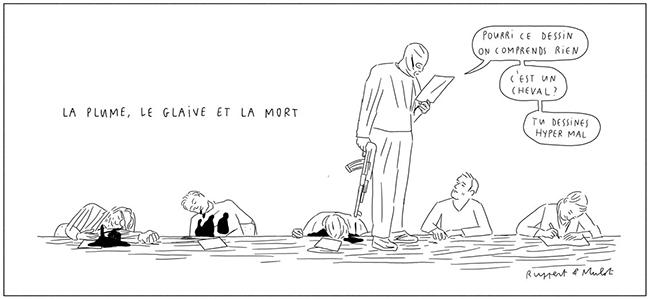 Un des seuls dessins qui m'aient fait marrer dans les jours de l'après-Charlie...