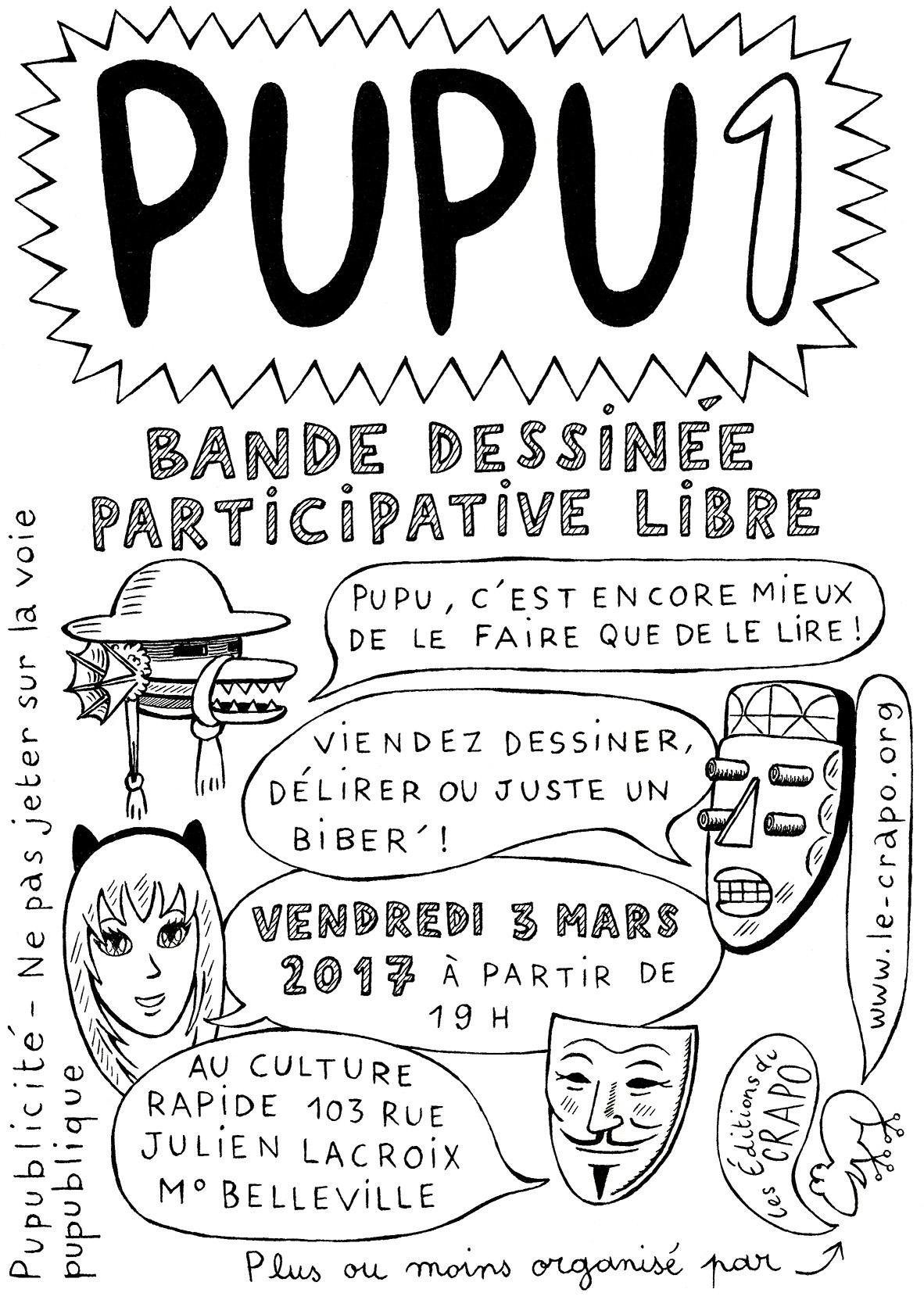 L'invitation à la 1ère séance de PUPU